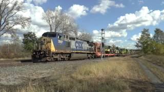 CSX MOW Train Leaving Fairport, NY