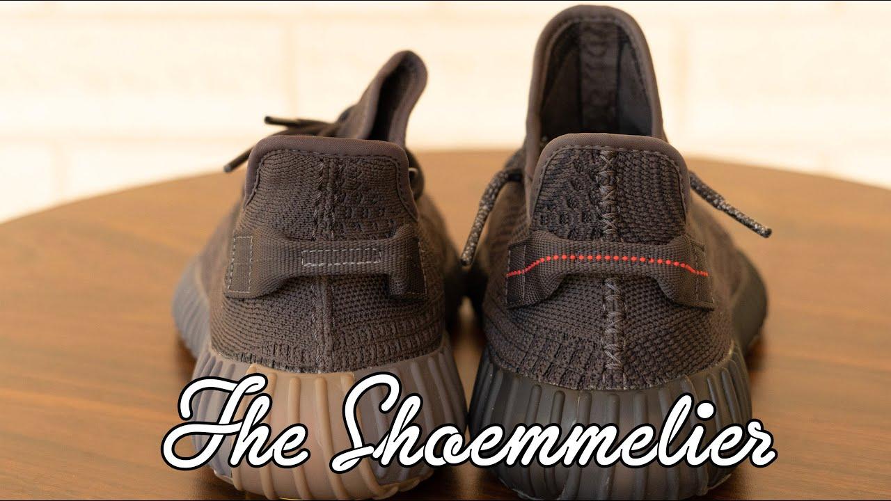 Color Comparison Adidas Yeezy Boost 350 V2 Cinder Vs Black Non Rf Youtube