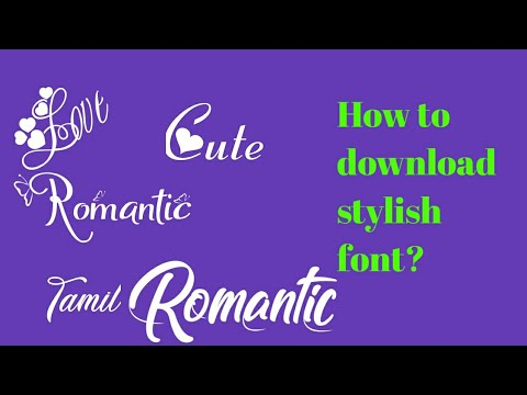 How To Download Stylish Font/WhatsApp Status Font Download/avee Player Template Font /trentech
