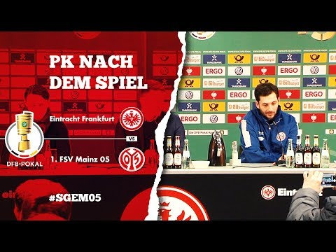 Pressekonferenz nach dem DFB-Pokal Spiel bei Eintracht Frankfurt | #SGEM05 | 1. FSV Mainz 05