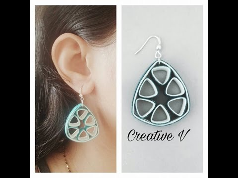 How To Make Quilling Earrings / Jewellery making /  Tutorial / Design 11