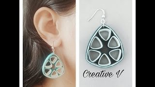How To Make Quilling Earring Tutorial /Design 11