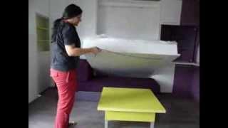 Обзавеждане на мини апартамент от 22 кв.м. с падащо легло от Видар