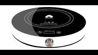 1800W Hot Pot Countertop Burner 13 Electric Stove Range Cooktop Touch Sensor Control with Rotary Switch,Round Easepot Portable Induction Cooktop