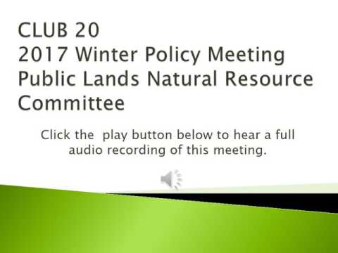 PLNR Committee: 2017 Winter Policy Meeting