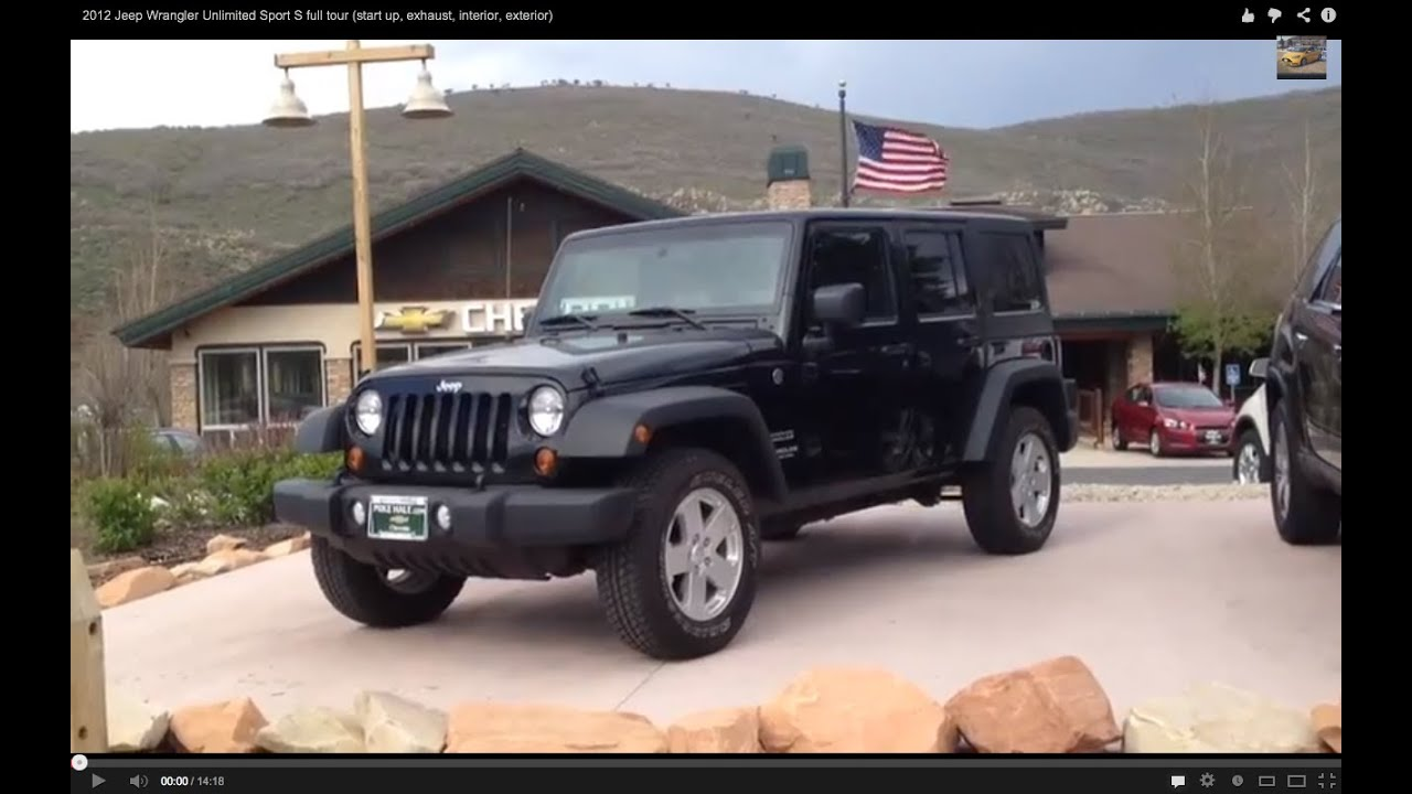 2012 Jeep Wrangler Unlimited Sport S full tour start up exhaust