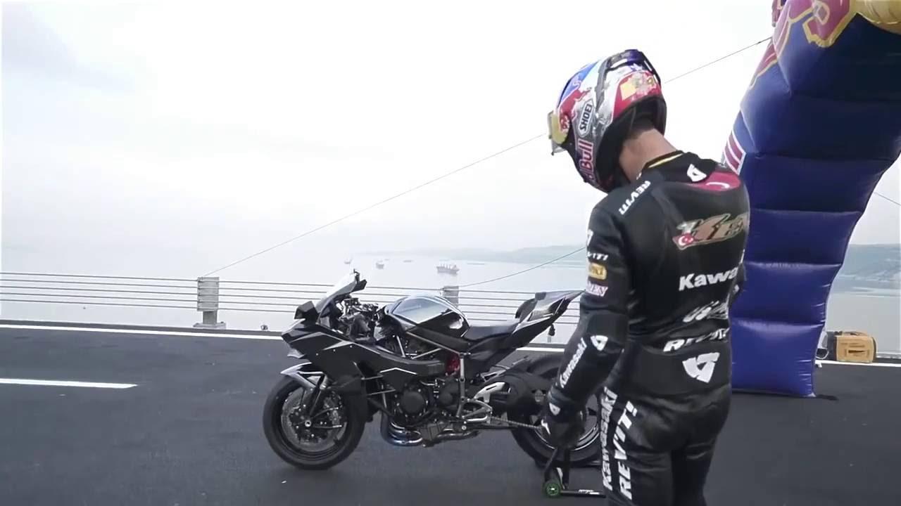kenan sofuoglu - kawasaki ninja h2r - 400 kmh - world speed record