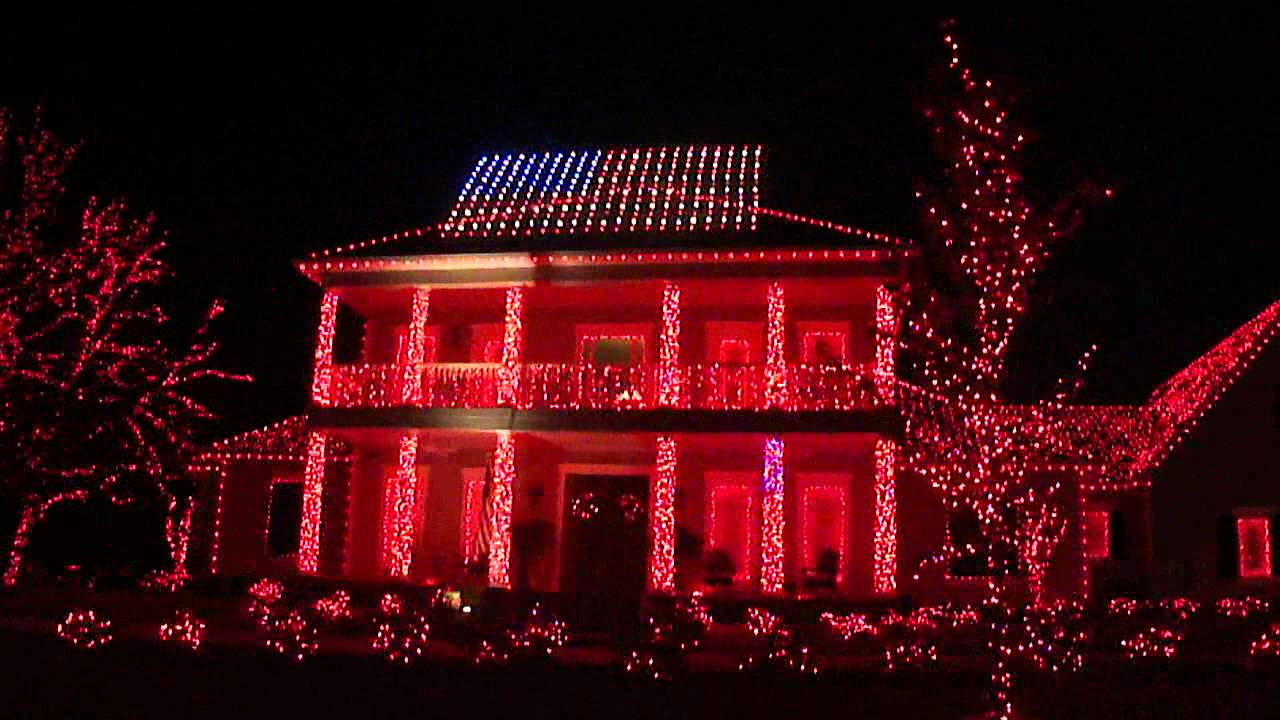 Patriotic Christmas Light Display Tallahassee Fl Youtube American Flag Lights