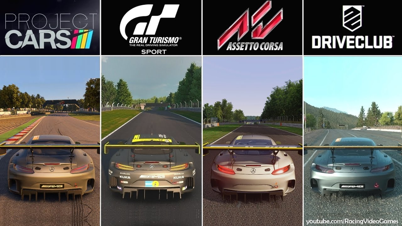 Gran Turismo Sport Beta Vs Project Cars Vs Driveclub Vs Assetto Corsa Graphics Comparison