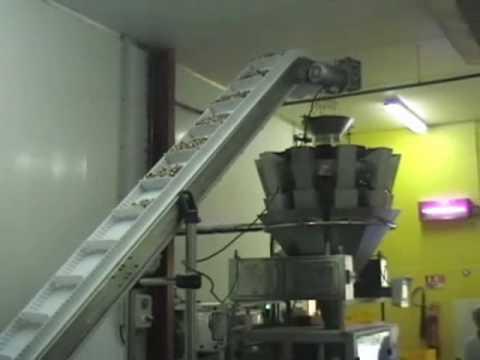 Dosificacion de galletas sobre termoformadora