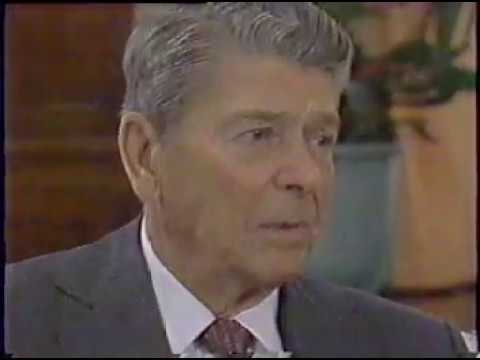 Ronald Reagan Interviewed by William F Buckley JR.  Parts one and two