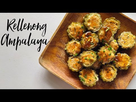 Rellenong Ampalaya Recipe | How to cook Stuffed Bitter Gourd