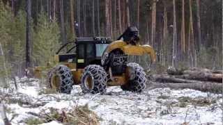 cat 525c колесный скиддер