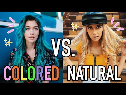The Benefits of Colored Hair vs. Natural Hair