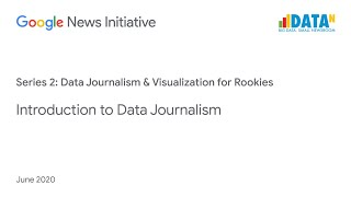 Data Journalism & Visualization for Rookies: Introduction to Data Journalism