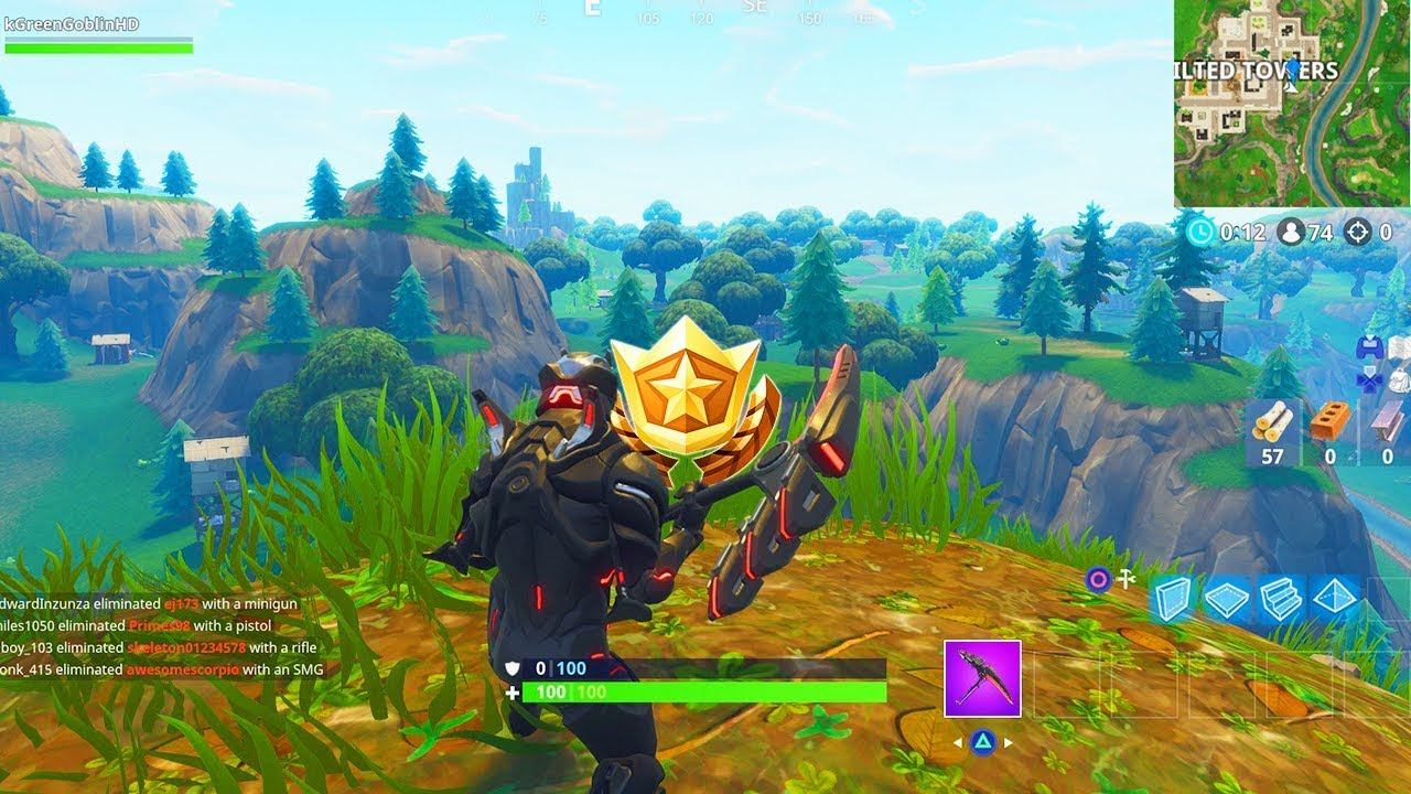Follow The Treasure Map Found In Pleasant Park Location Fortnite Week  Challenges