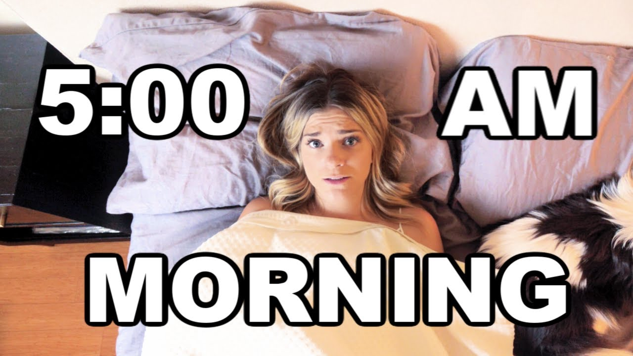 I Tried A 5 AM Morning Routine And This Is What Happened
