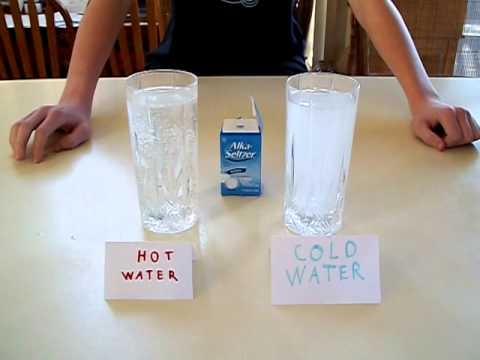 design lab water and alka seltzer Ask the students to design a controlled experiment to determine the relationship between the temperature of the water and reaction rate of alka-seltzer ® and water to help them get started.