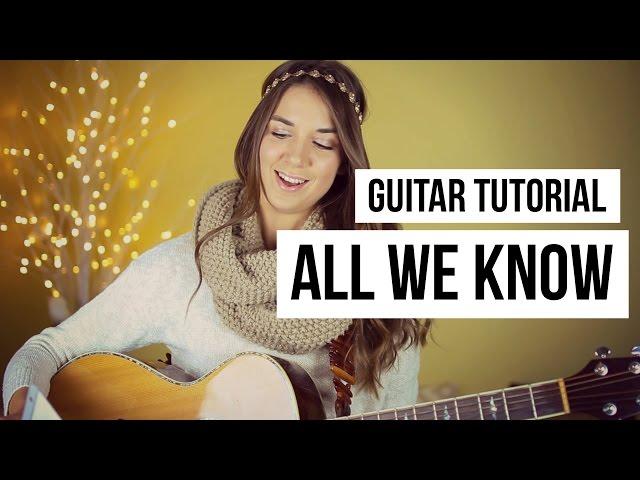 All We Know - The Chainsmokers // Guitar Tutorial - Ytube.Org Azərbaycan