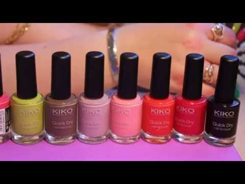 Видео Kiko лаки для ногтей палитра