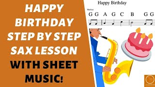 Happy Birthday Saxophone Lesson Fingerings And Sheet Music Youtube
