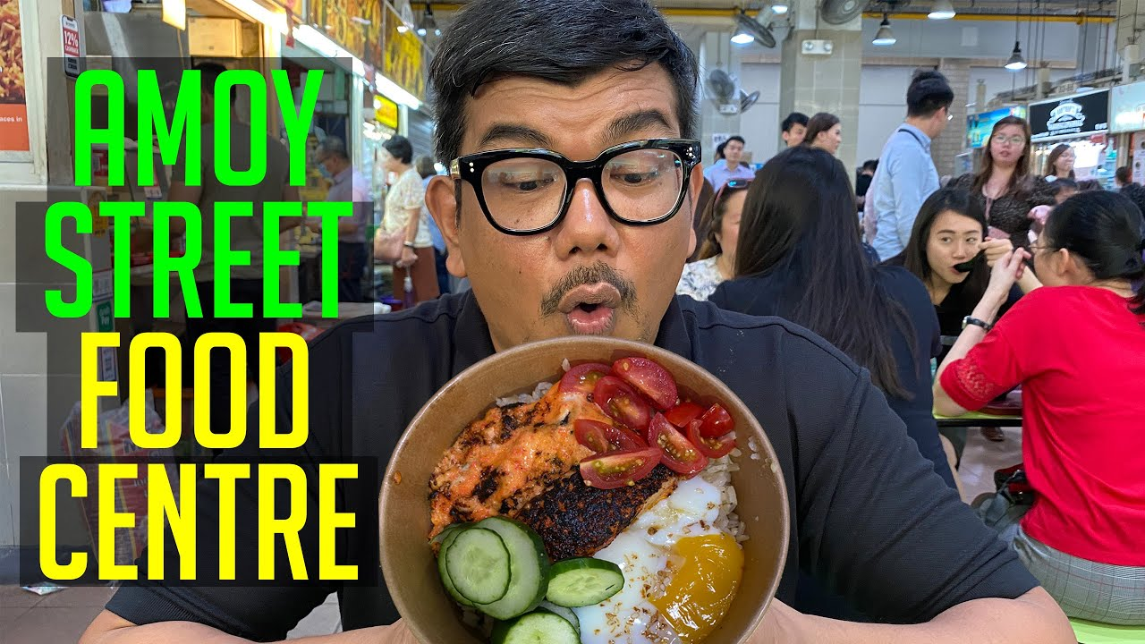 Halal Food At Amoy Street Food Centre Singapore Hawker Food Youtube