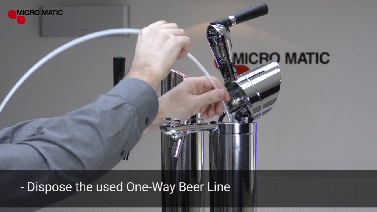 How to replace the FlexiDraft™ One-Way Beer Line, A-System