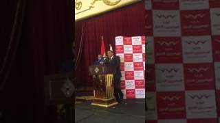 بالفيديو..  فوز  عصام خليل برئاسة حزب المصريين الأحرار بالتزكية