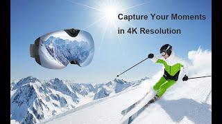 CCTUNG Kameralı Kayak Gözlüğü 4K Snowboard Kamera – Anti Sis