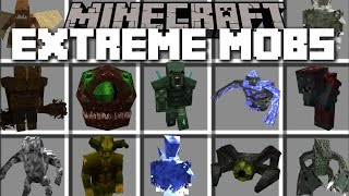 Minecraft EXTREME MOBS MOD / FIGHT AND DEFEND AGAINST FLESH EATING ANIMALS!! Minecraft