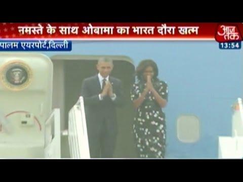 Barack Obama, Michelle cut short India tour; leave for Saudi Arabia