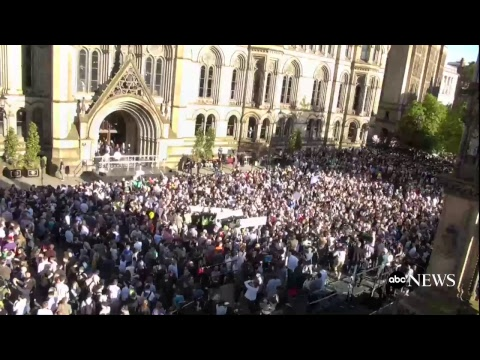Vigil Held for Victims of Manchester Attack in UK
