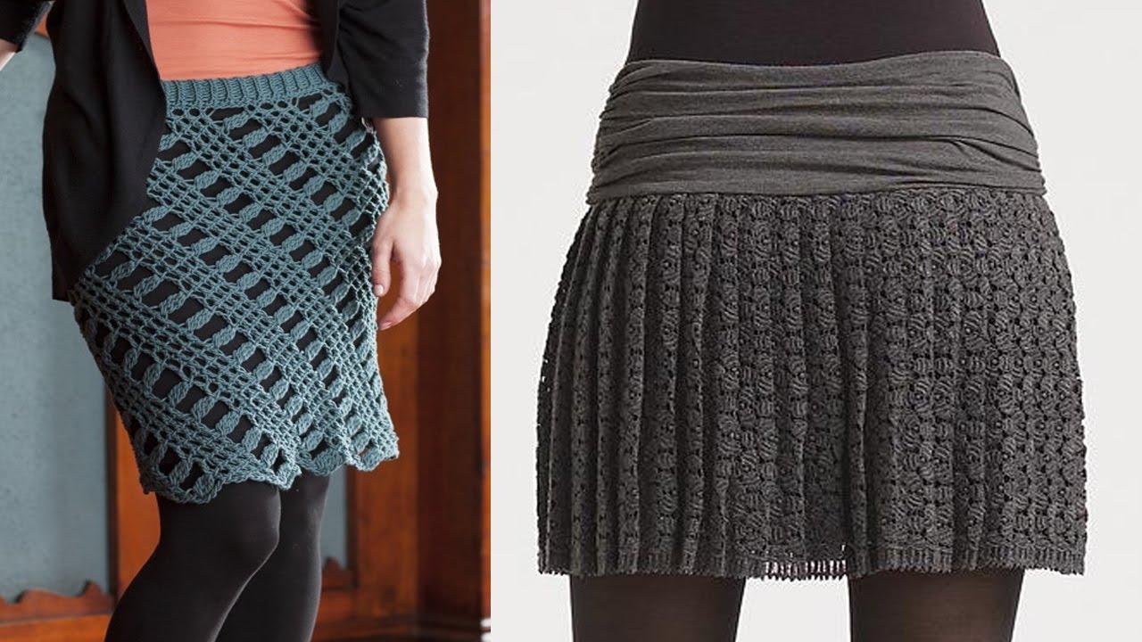 ce1170bb3 faldas mujer tejidas a crochet o ganchillo diseños