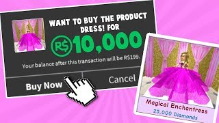SPENDING 10,000 ROBUX ON THIS DRESS! (Roblox)