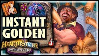 RENO = INSTANT GOLDEN BARON! - Hearthstone Battlegrounds