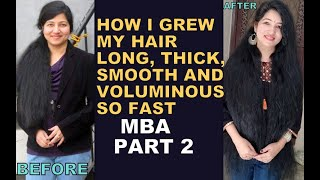 My Secret Mask to Grow hair Faster 4 times Thicker Longer FENUGREEK For EXTREME HAIR GROWTH P 2