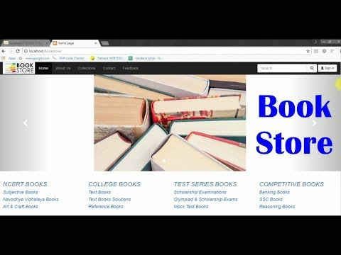 Book Store Php Project With Source Code- Php Project Tutorial