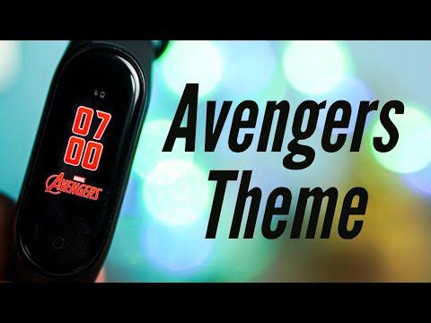 Mi Band 4 Avengers Theme