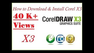 Gambar cover How to install and download corel draw x3 full