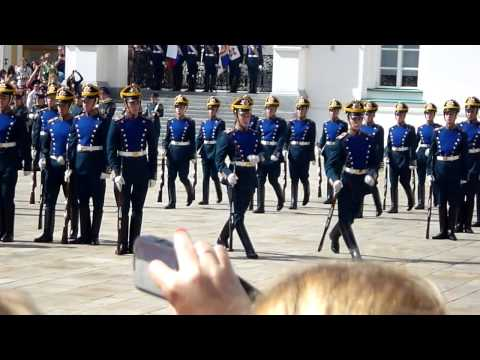 Moscow Kremlin.The Ceremonial of the President Regiment.17-08-2013.