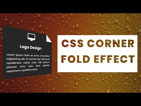 CSS Corner Folding Effect | CSS3 Animation Snippets | Beginners Tutorial