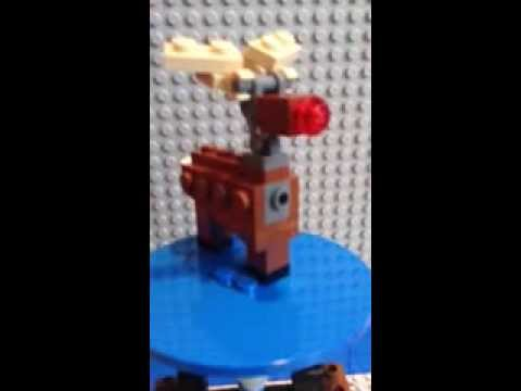 My custom lego Rudolph the red nose reindeer - YouTube