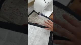 재봉틀배우기 발매트 직각바이이어스박음질