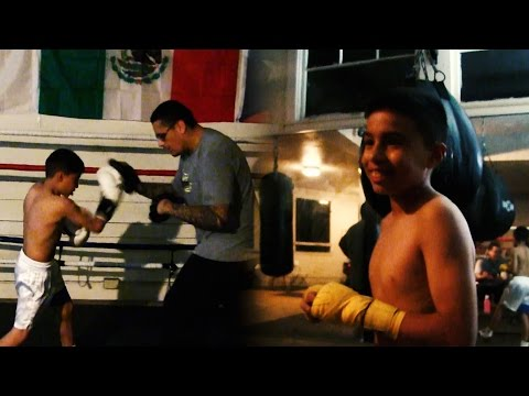 10-Year-Old Jose Contreras Boxing Prodigy WORKOUT/TRAINING