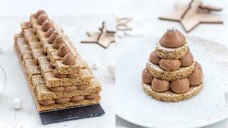 Tuto recette : Bûche de noël - sapins chocolat noisette