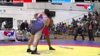Dual #4 - 130 KG - Naveen (IND) vs. Toby Erickson (USA #4)