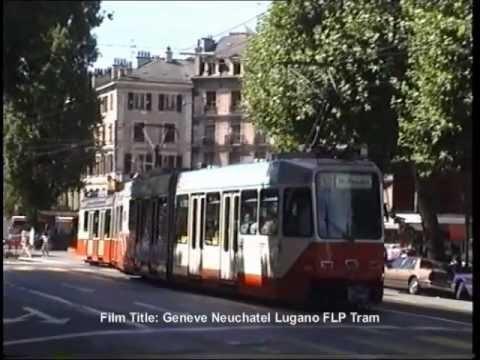 Genève Trams on Cours de Rive in August 1990