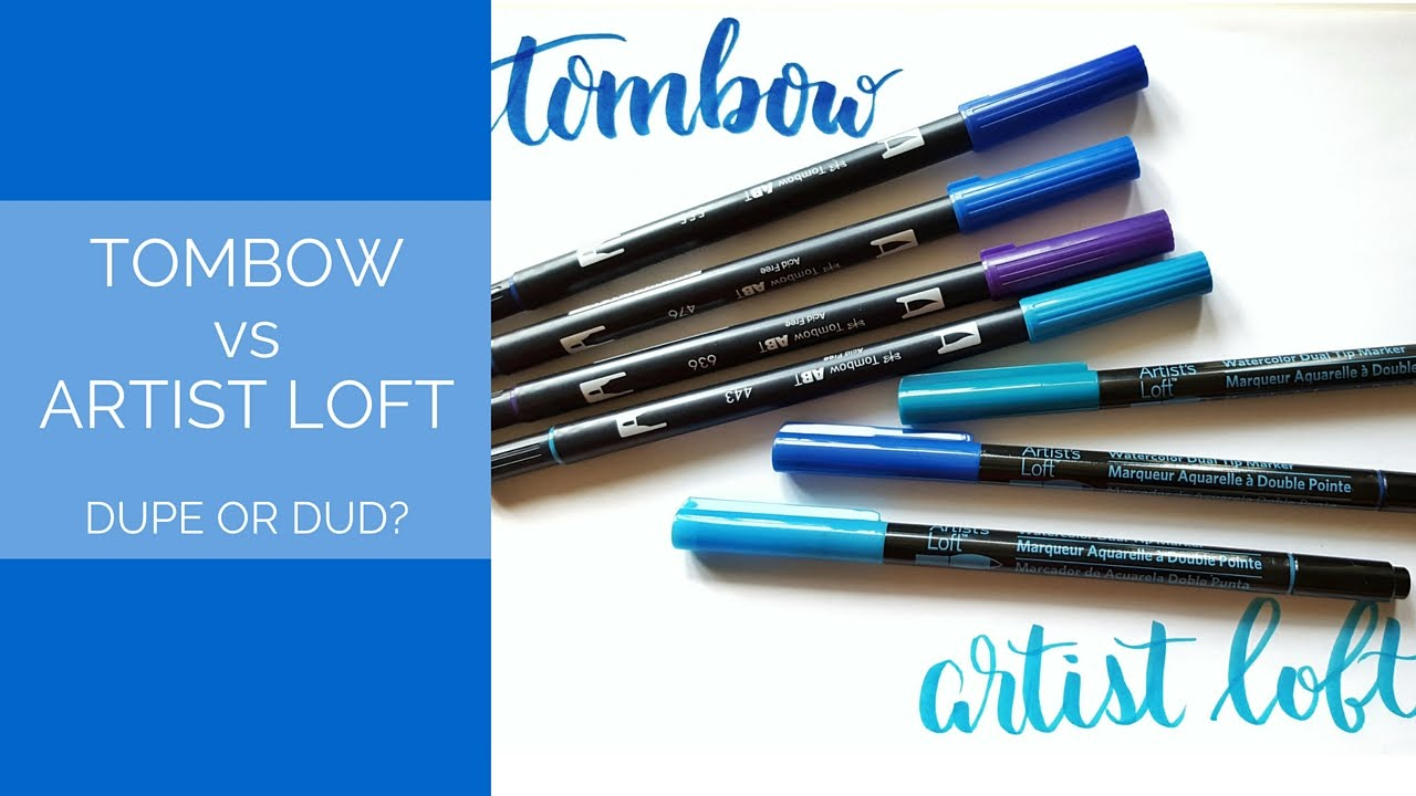 Tombow vs Artist Loft Brush Pens: Dupe or Dud? – Pretty