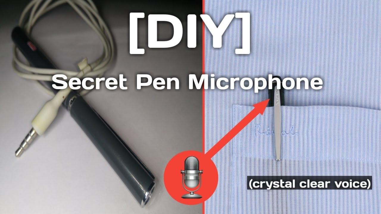 Diy Hidden Microphone In A Pen Youtube