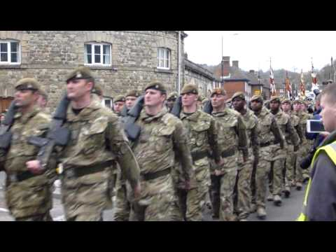 3 Yorks - Full Battalion Parade through Warminster, Wilts - 16 March 2012
